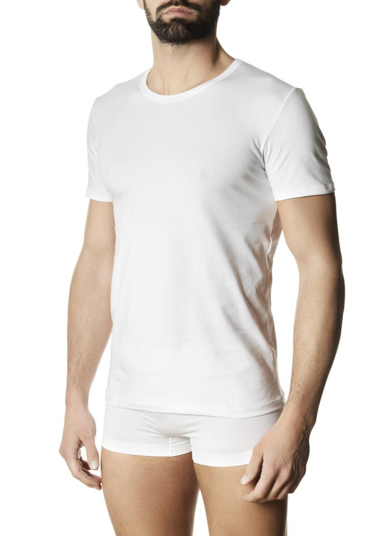 Мъжка памучна тениска Pompea Tommy бял