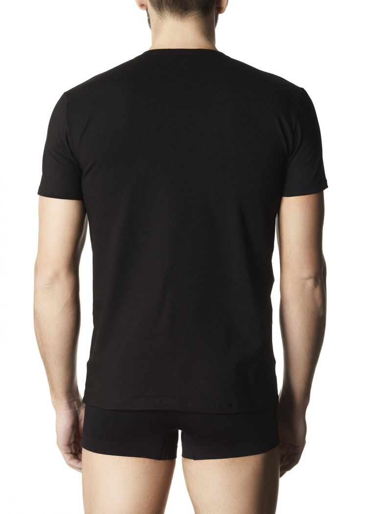Мъжка памучна тениска Pompea Tommy черен
