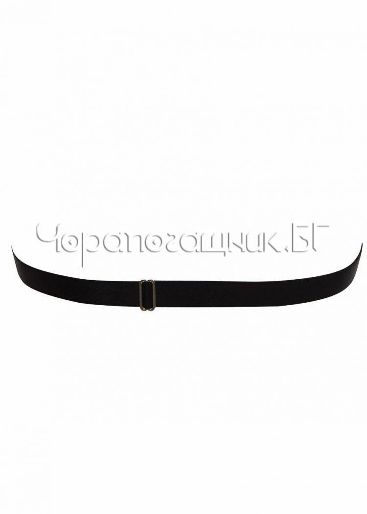 Сутиен бриджитка със силиконов гръб с предно закопчаване Lormar Linette черен
