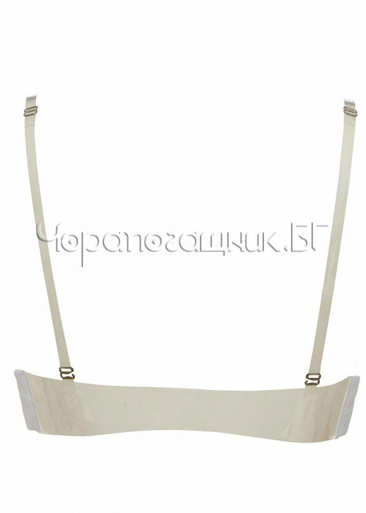 Сутиен с големи подплънки и силиконов гръб Lormar Double Gloss bianco