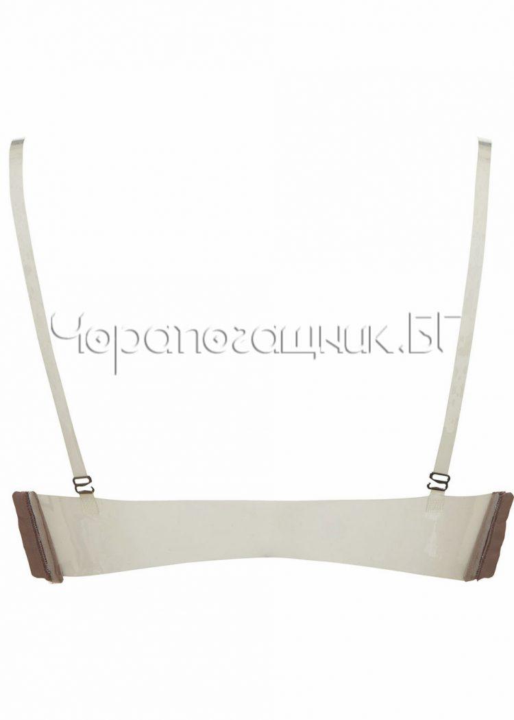 Сутиен с големи подплънки и силиконов гръб Lormar Double Gloss corteccia