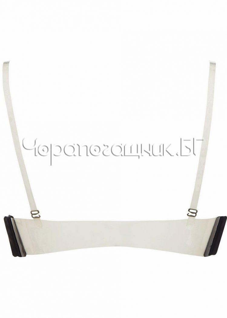 Сутиен с големи подплънки и силиконов гръб Lormar Double Gloss nero