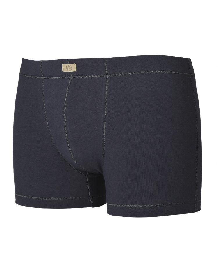 Памучни мъжки боксерки с облечен ластик New Silhouette 6737 тъмно сив