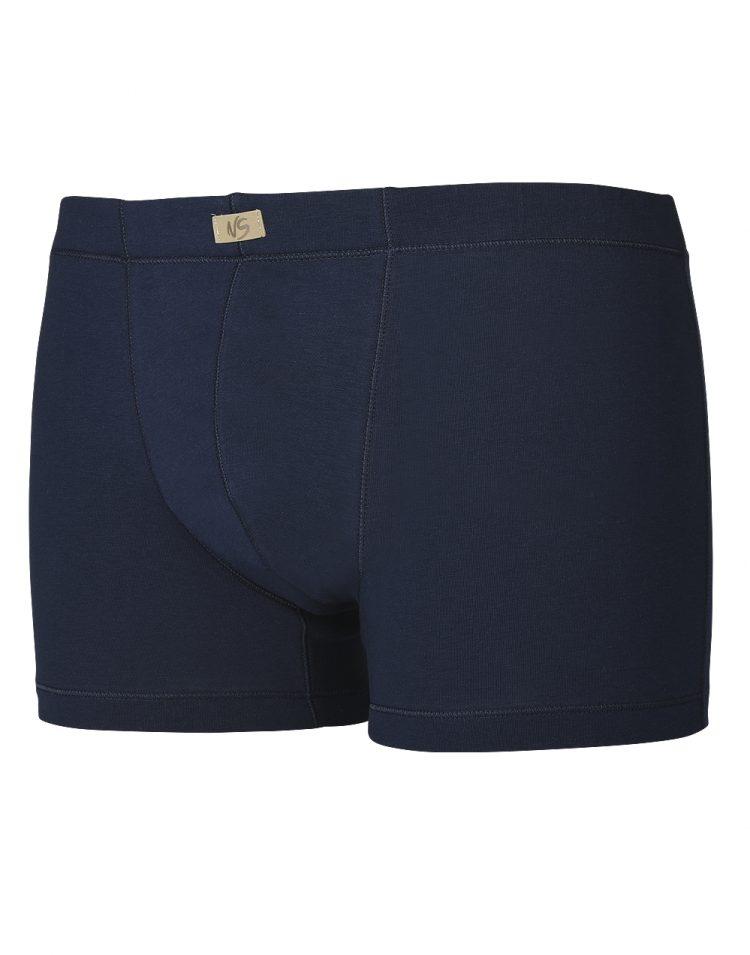 Памучни мъжки боксерки с облечен ластик New Silhouette 6737 тъмно син