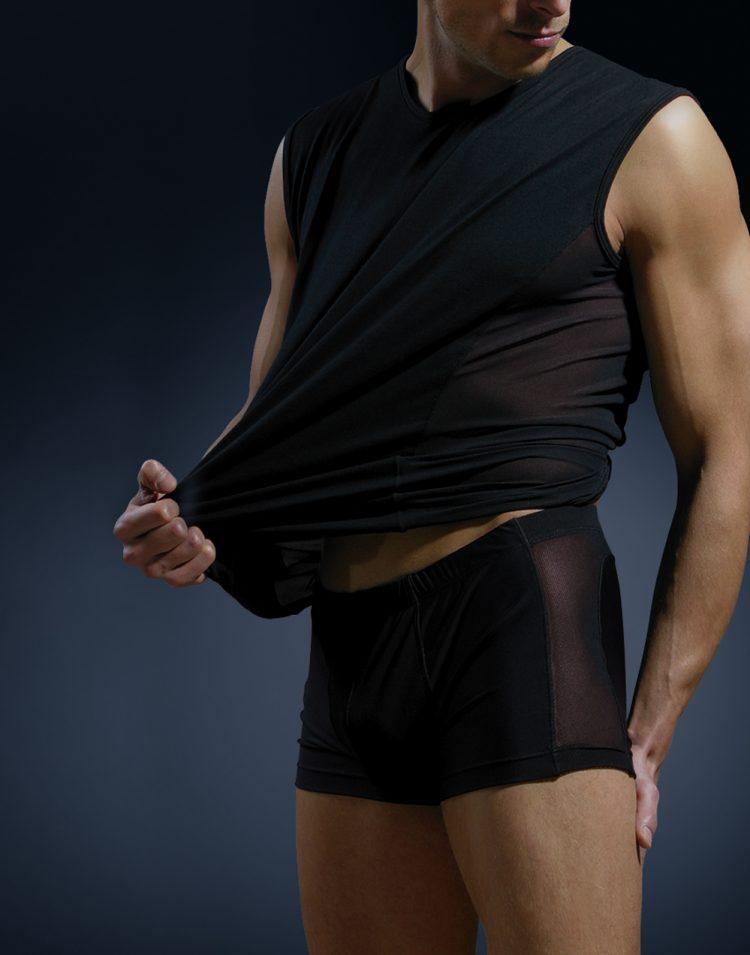 Мъжки боксерки от памук и тюл New Silhouette 6739