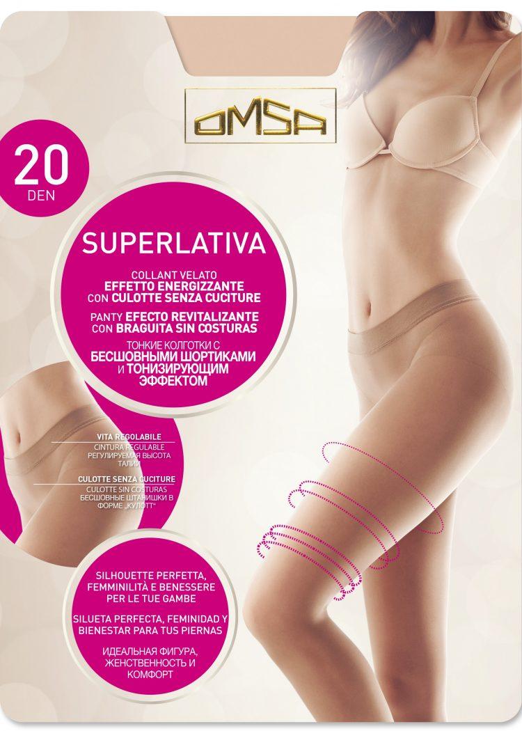 Безшевен чорапогащник със сребърни йони Omsa Superlativa 20 Den