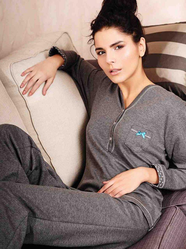Дамска памучна пижама с копчета New Silhouette 5706
