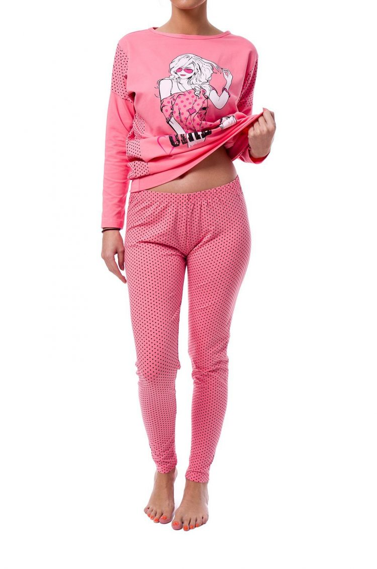 Дамска пижама с клин Братя Гьокови 6240