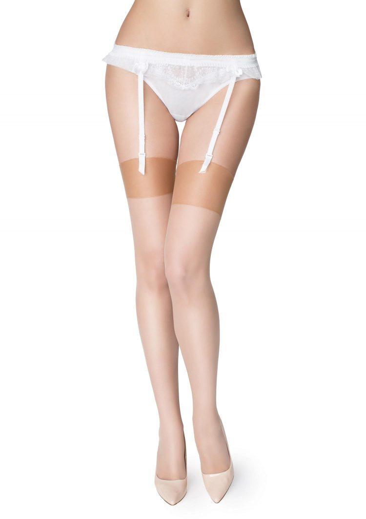 Дамски чорапи за жартиери в телесен цвят Marilyn Akte II