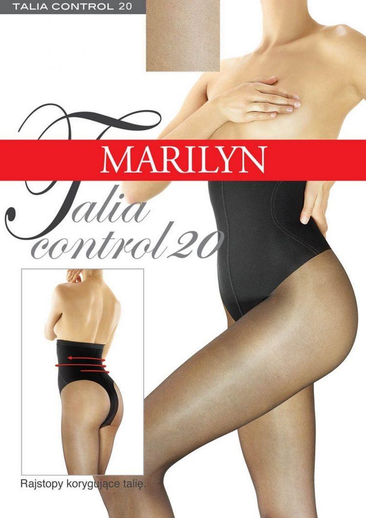 Дамски чорапогащник с висока талия и стягащ колан в телесен цвят Marilyn Talia Control 20 Den