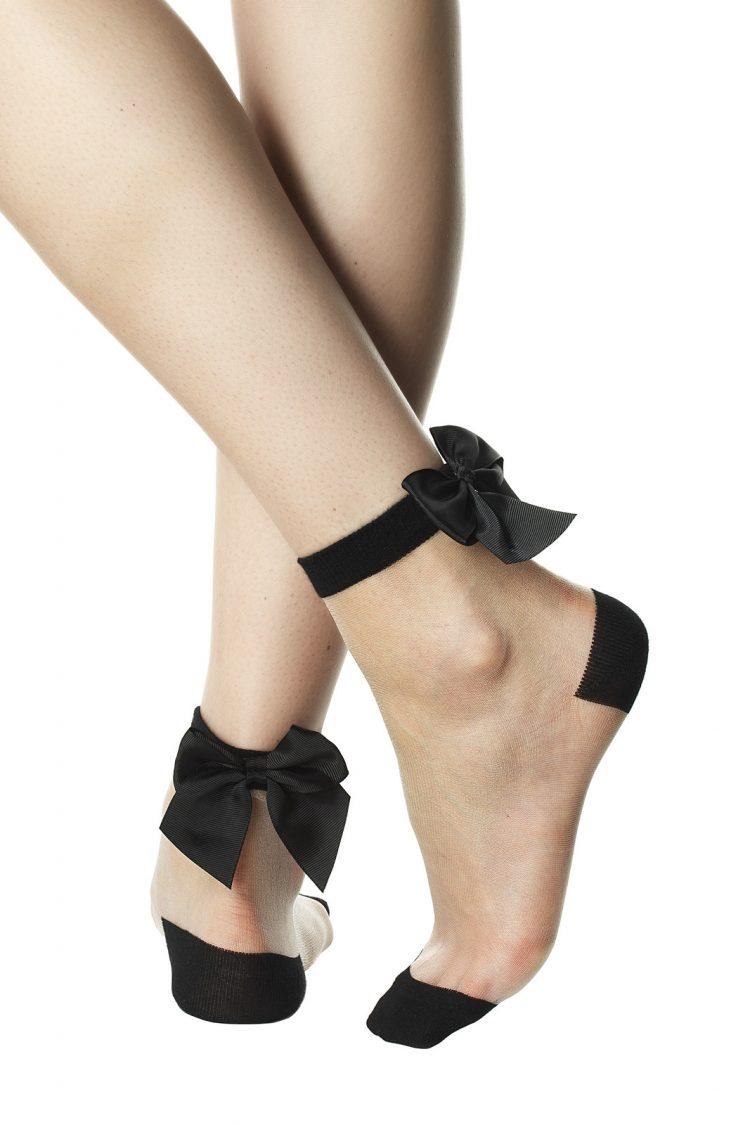 Дамски кокетни къси чорапи с панделка Pompea Dorette