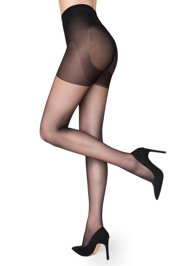 Дамски компресиращ чорапогащник в черен цвят Marilyn Shape 5 Lux Line 30 Den
