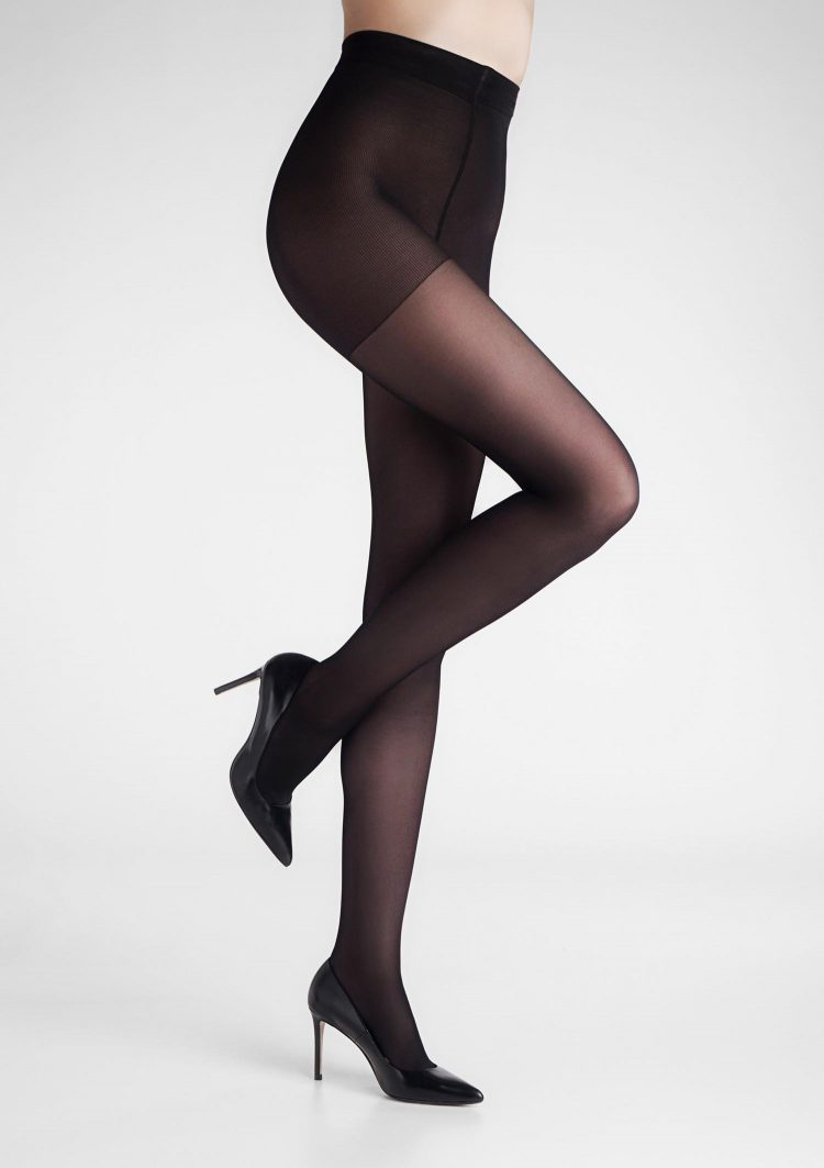Дамски медицински анти варикозен чорапогащник в черен цвят Marilyn Relax 50