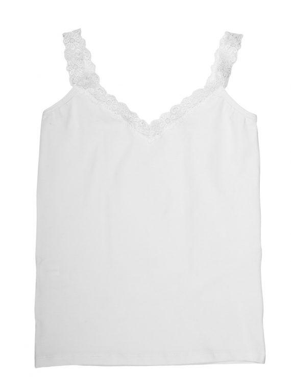 Дамски памучен корсаж с дантелени презрамки New Silhouette 4703