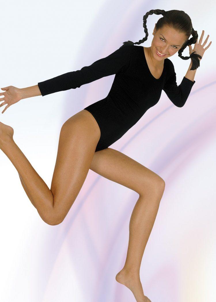Дамски памучно боди с деколте бикини New Silhouette 4730