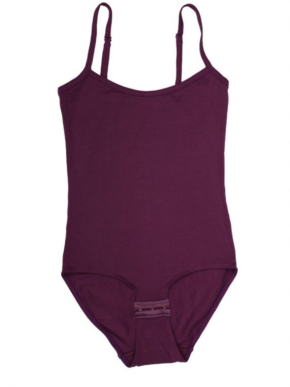 Дамски памучно боди с тънки презрамки бикини New Silhouette 4712