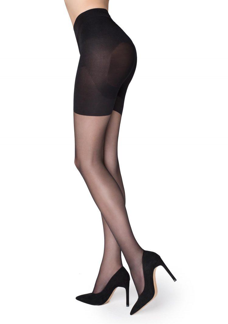 Дамски стягащ чорапогащник с Push up ефект в черен цвят Marilyn Plus Up 20