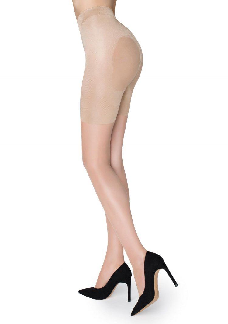 Дамски стягащ чорапогащник в телесен цвят Marilyn Plus Up 20