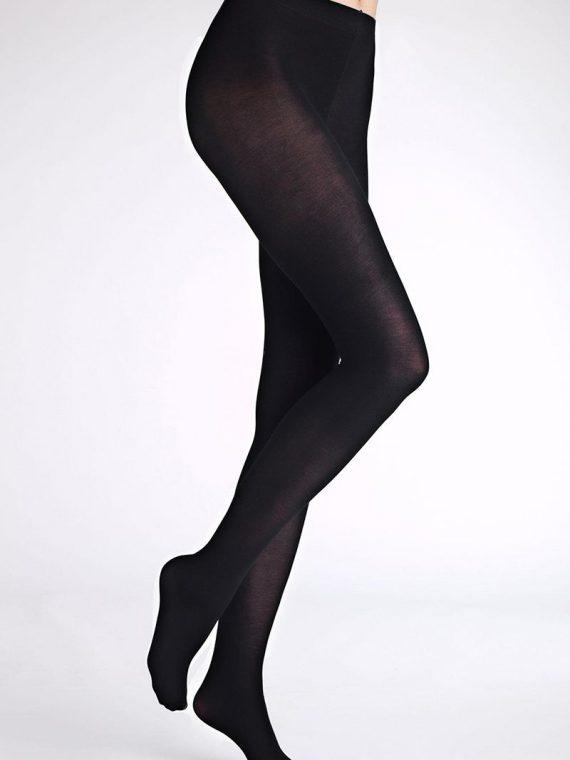 Дамски памучен чорапогащник Marilyn Arctica Cotton 80den в черно