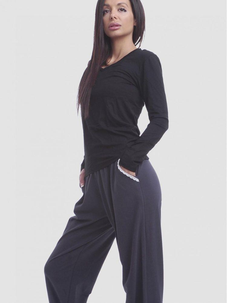 Дамско памучно долнище на пижама New Silhouette 5406