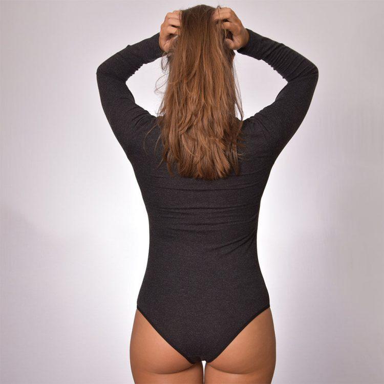 Дамско вълнено боди с дълъг ръкав полу поло бикини Tyapti 393