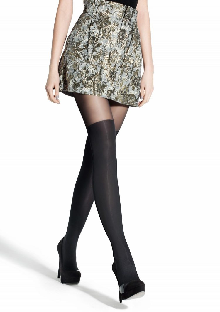 Фигурален чорапогащник имитиращ 7/8 чорапи Marilyn Zazu Classic