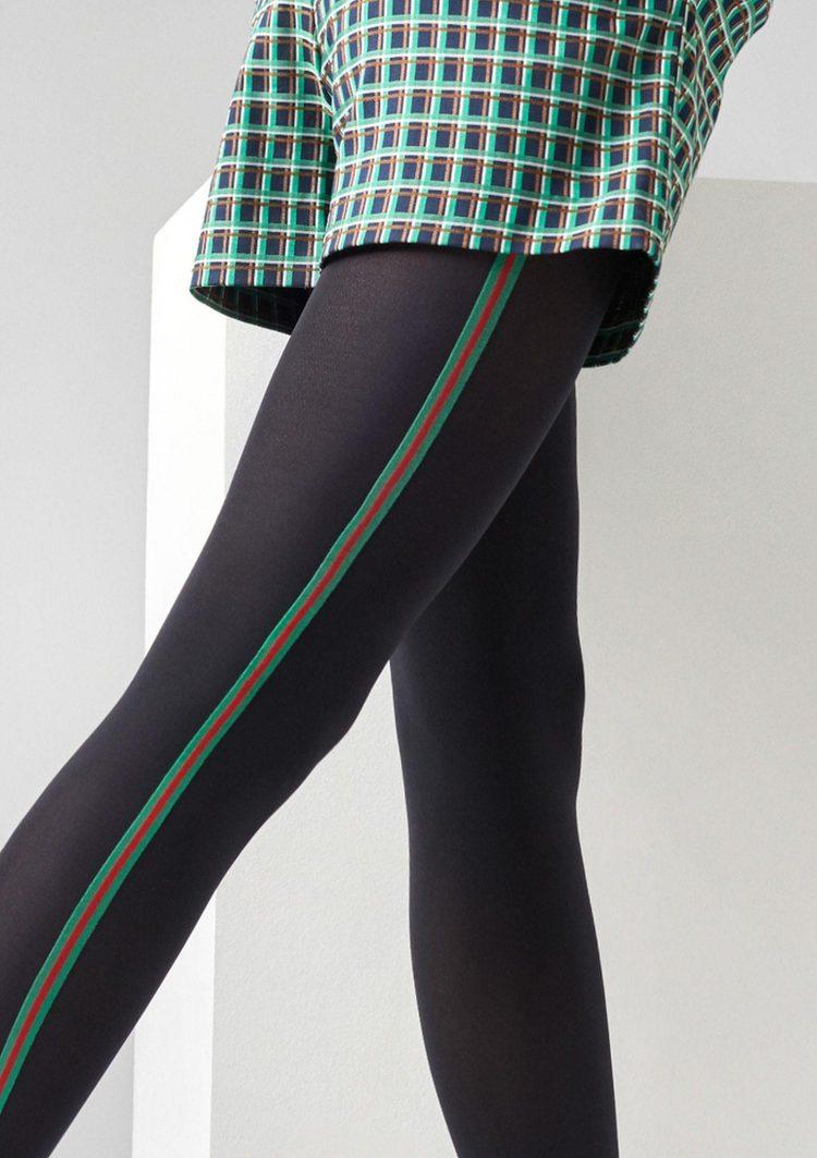 Фигурален чорапогащник с цветна лента Marylin Allure N24