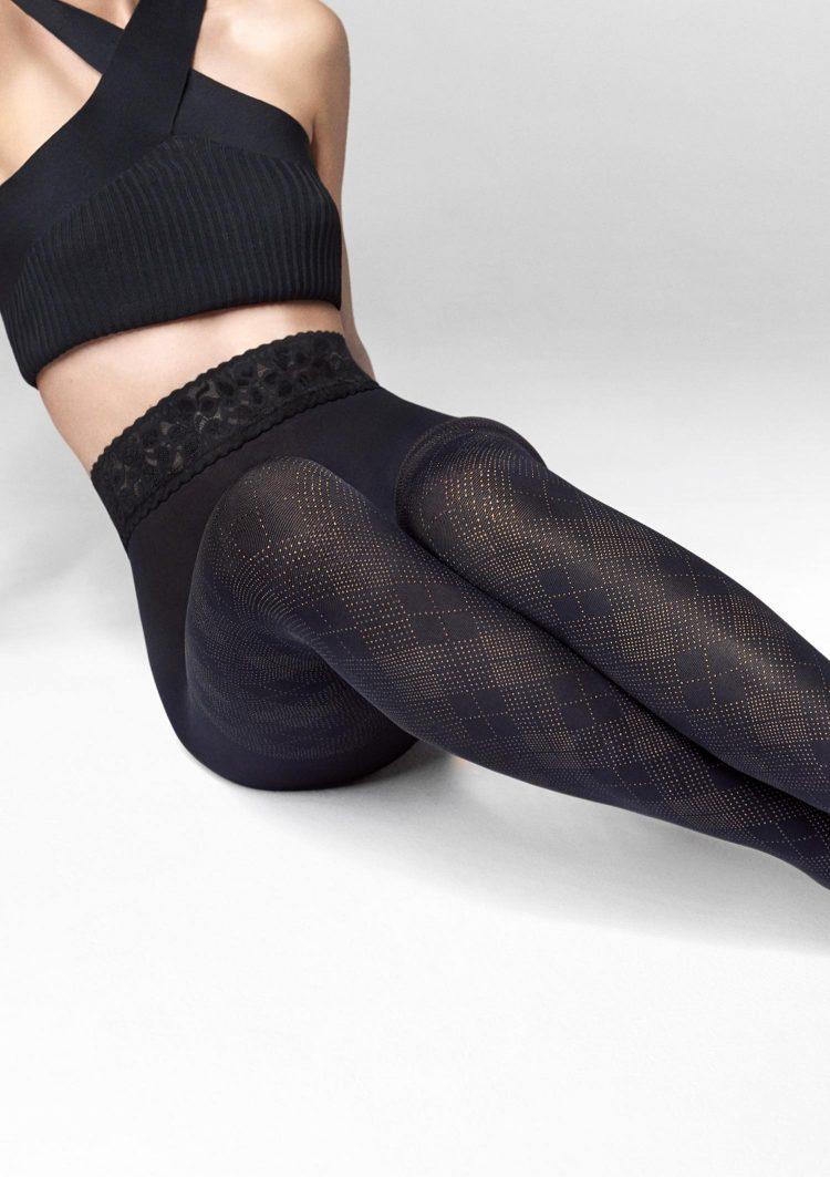 Фигурален чорапогащник с ромбове Marilyn Emmy R18