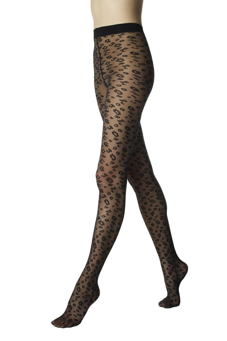 Фигурален чорапогащник с тигров животински принт Pompea Maja 40 Den