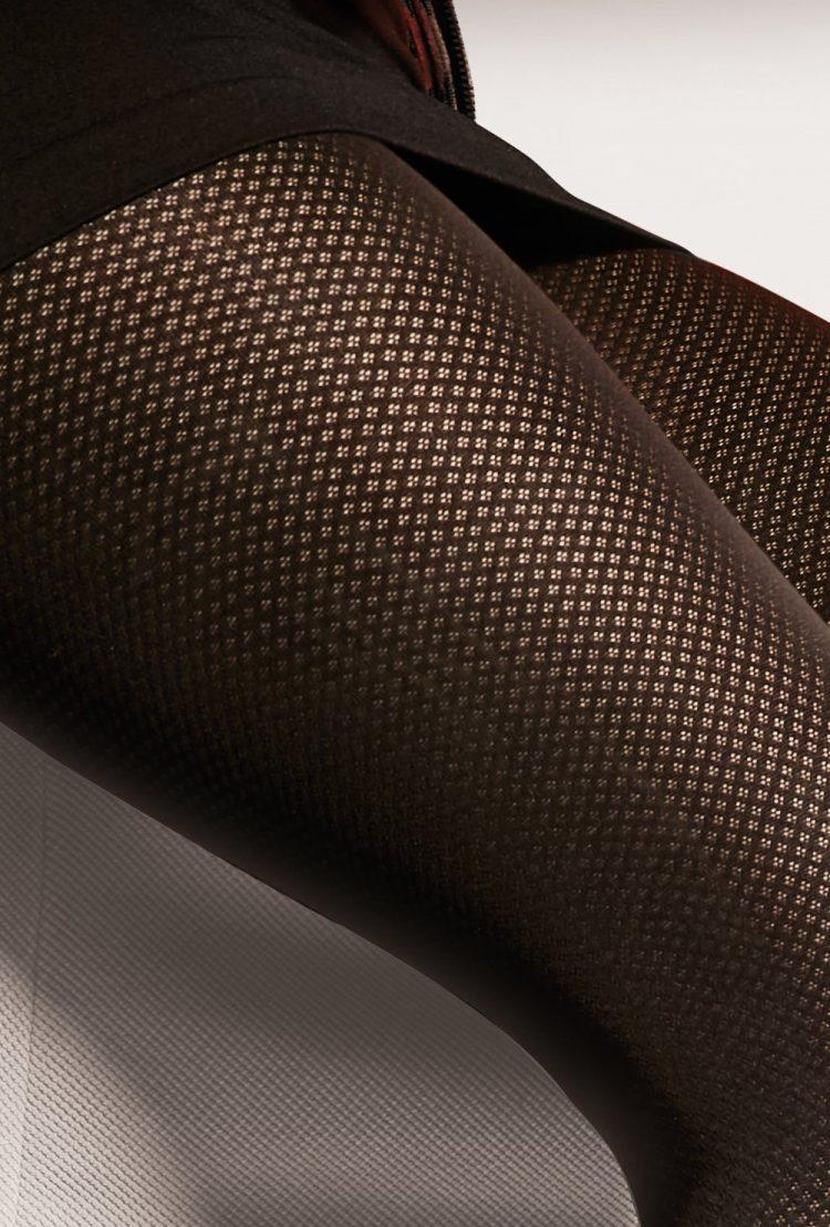 Фигурален чорапогащник в черен цвят Gatta Lorien 09