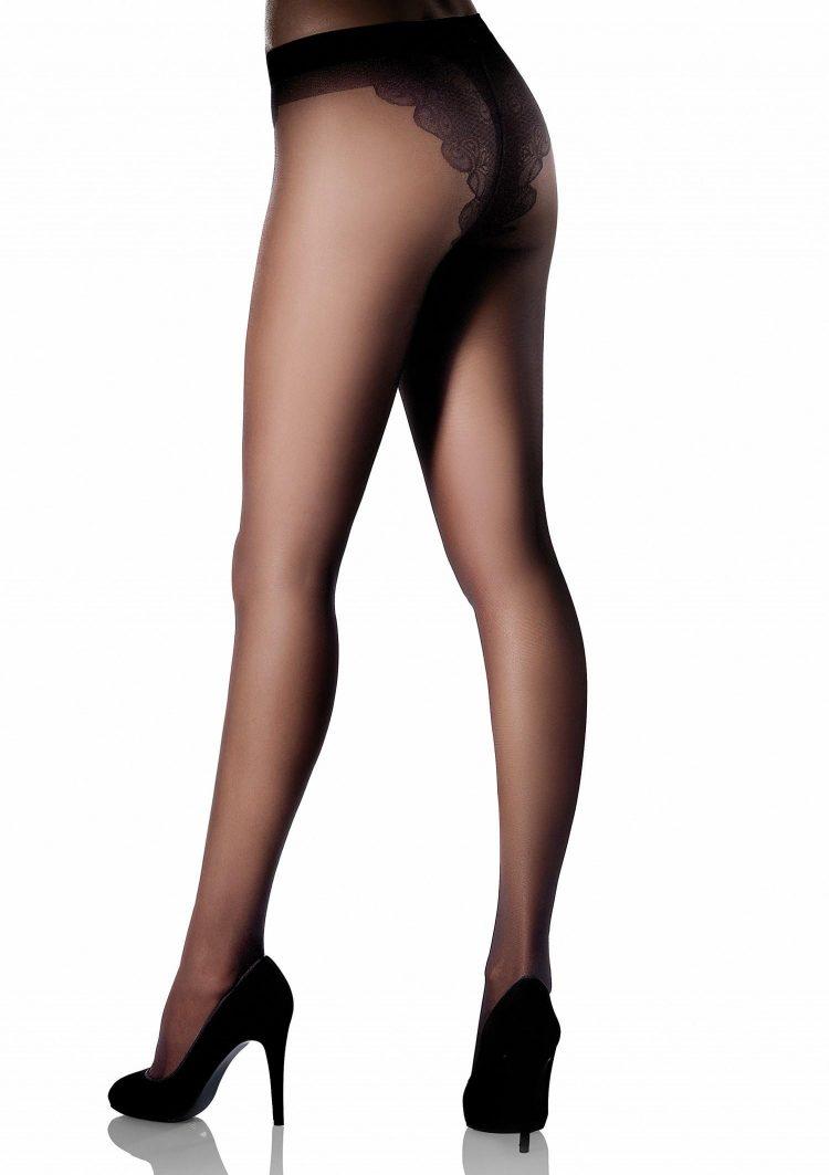 Луксозен чорапогащник с дантелени бикини Marilyn Bikini 20
