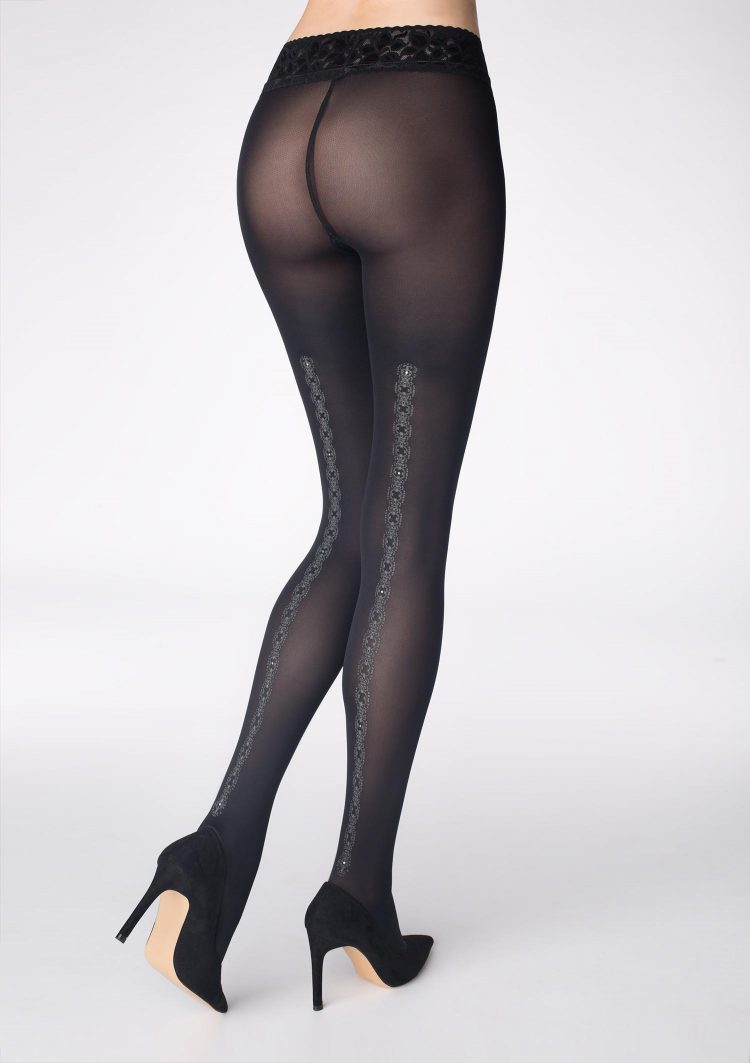 Луксозен фигурален чорапогащник с фигурален ръб Marilyn GUCCI G35