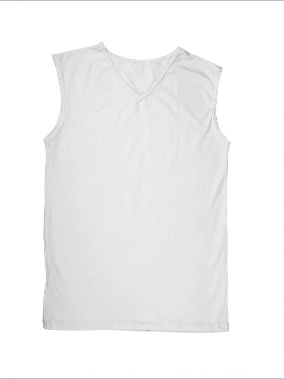 Луксозна мъжка тениска без ръкав с остро деколте New Silhouette 6783