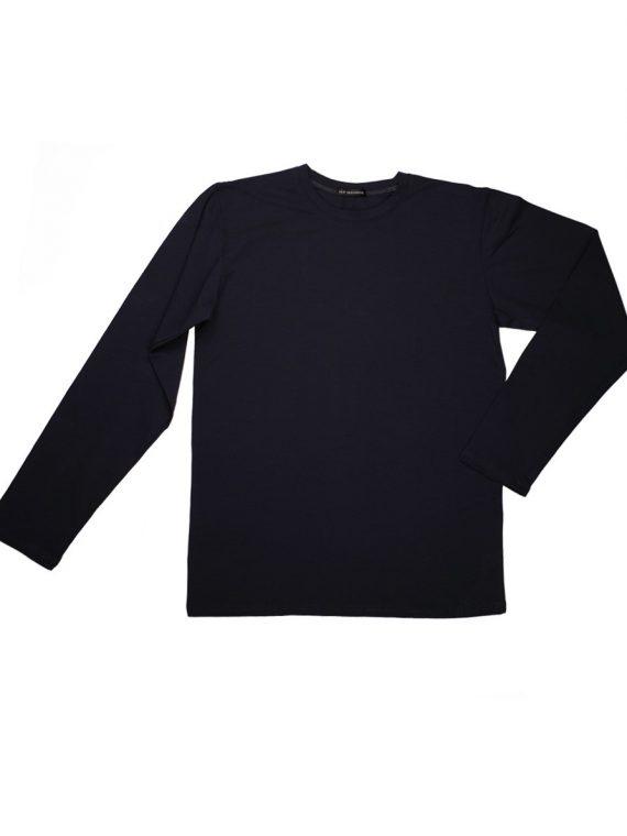 Луксозна мъжка тениска с дълъг ръкав обло деколте New Silhouette 6470