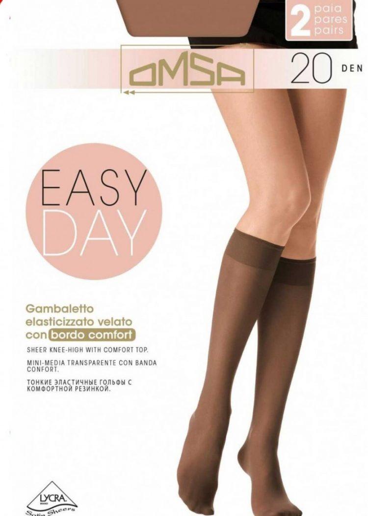 Луксозни дамски 3/4 чорапи с ликра Omsa Easy Day 20 2бр.