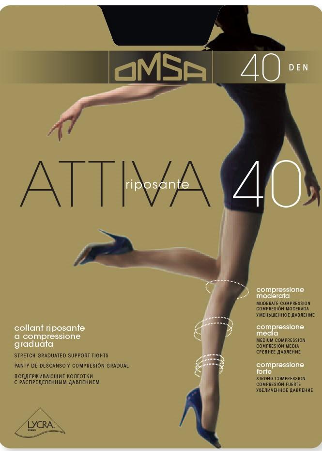 Оформящ чорапогащник със стягащ ефект с ликра Omsa Attiva 40 Den