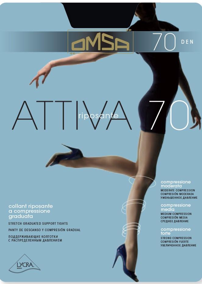Оформящ чорапогащник със стягащ ефект с ликра Omsa Attiva 70 Den