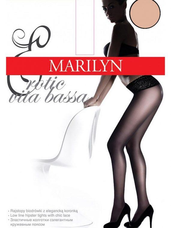 Секси чорапогащник с ниска талия и дантелен колан Marilyn Erotic Vita Bassa 15 Den