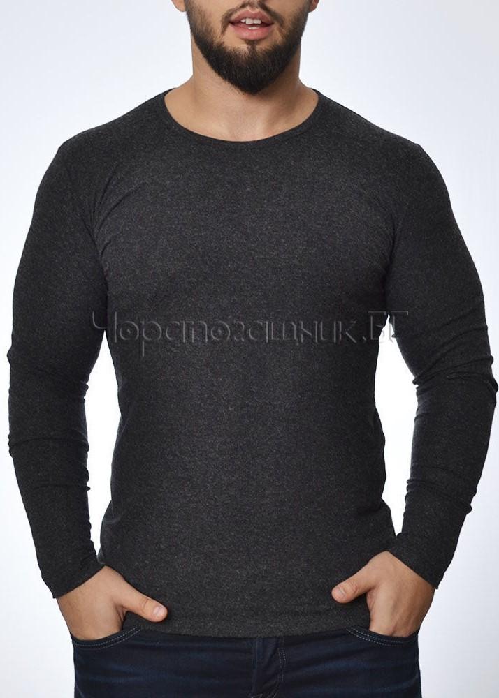 Мъжка вълнена тениска с дълъг ръкав Tyapti 601