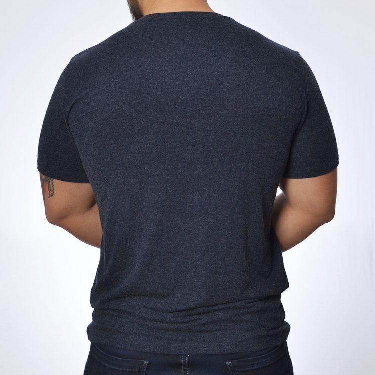 Мъжка вълнена тениска с къс ръкав и V- деколте Tyapti 602