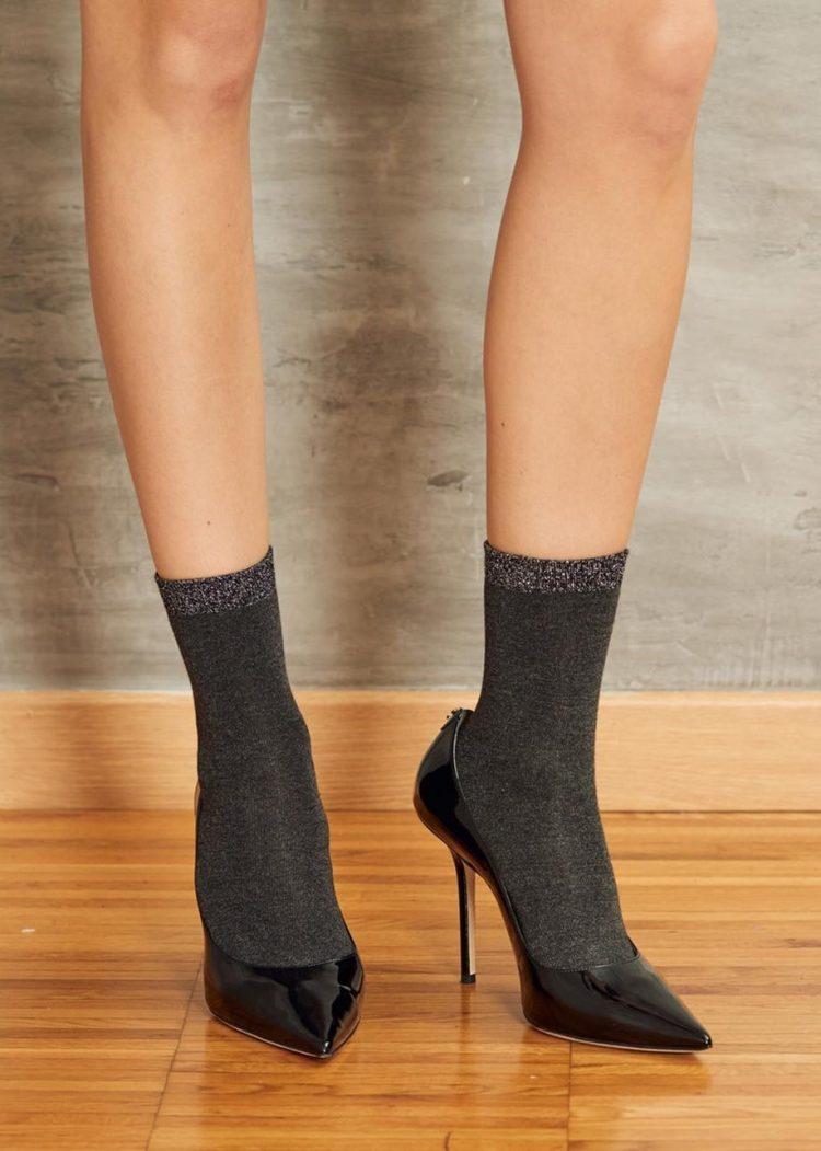Луксозни къси чорапи с брукат SiSi Calzino Binomio