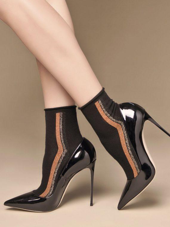 Луксозни къси чорапи с ленти от ламе Philipe Matignon Bateau