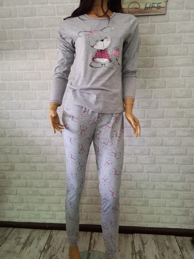 Дамска памучна пижама Иватекс с зайче 3388