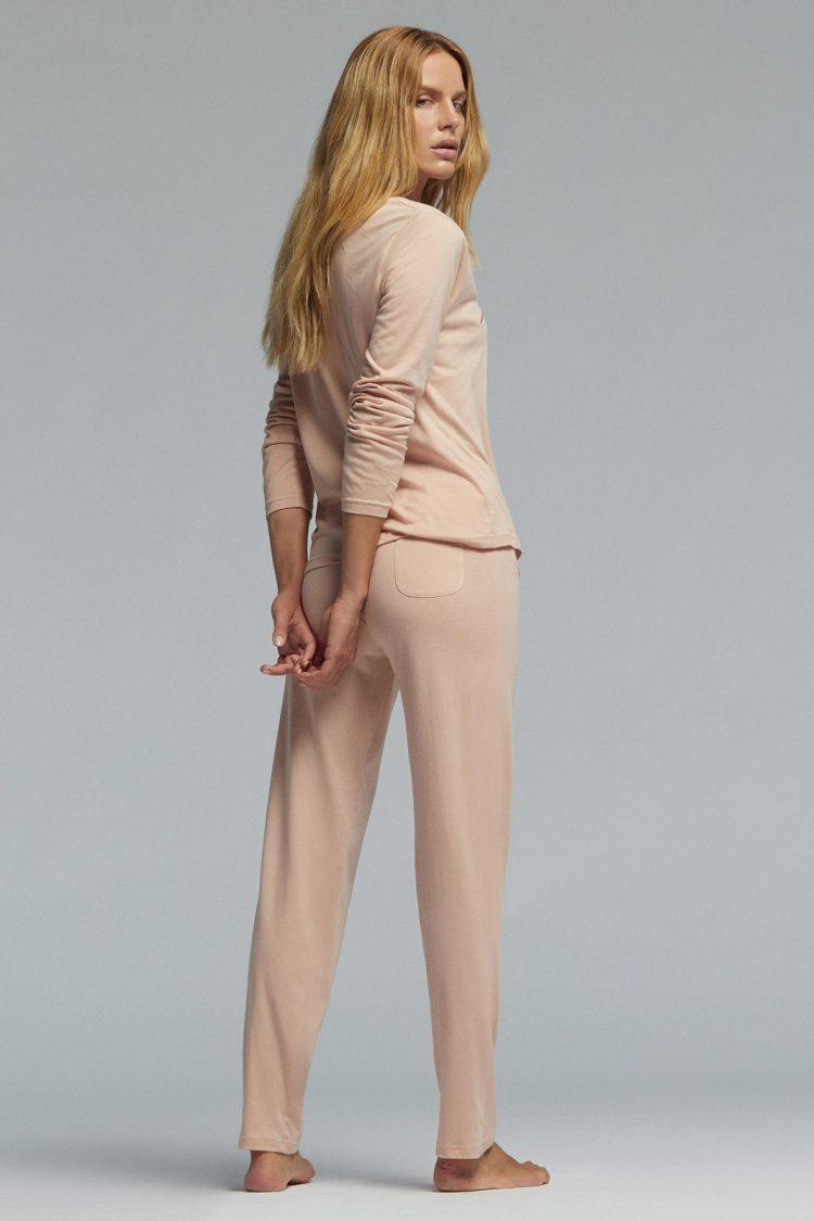 Дамска памучна пижама Pompea Ginny в пудра