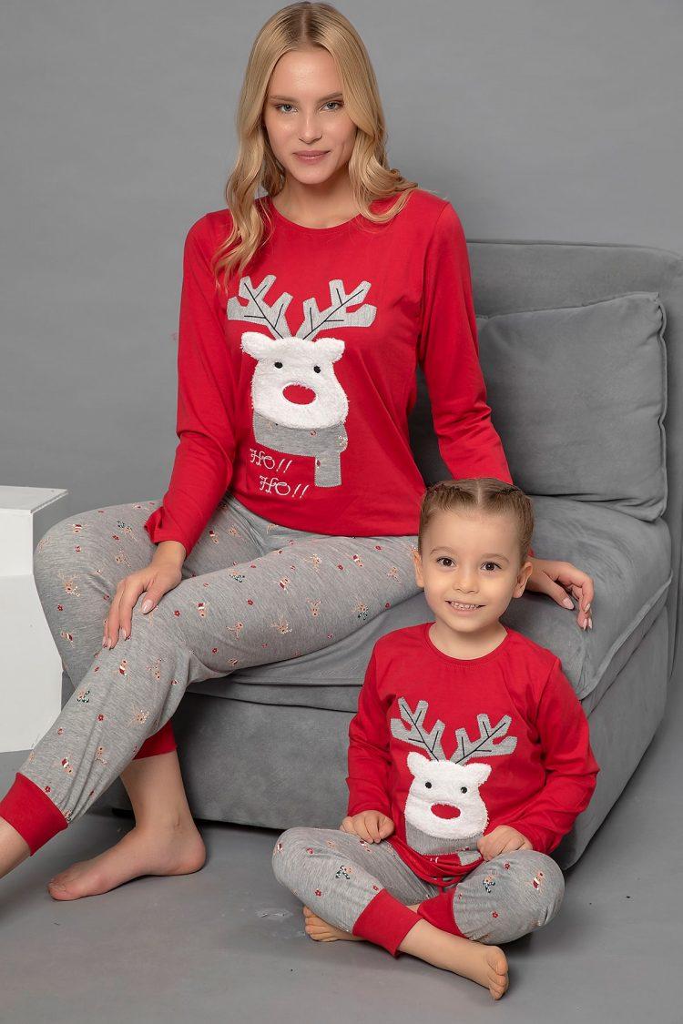 Детска коледна пижама с еленче Ho Ho Ho 234Детска коледна пижама с еленче Ho Ho Ho 234