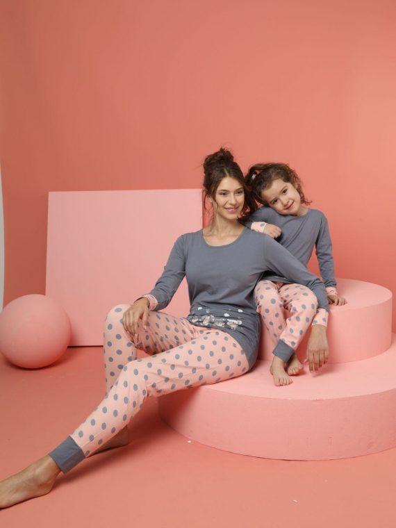 Детска памучна пижама с мишлета 6303