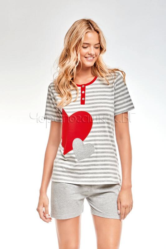 Дамска елегантна пижама с къс ръкав Infiore Amour
